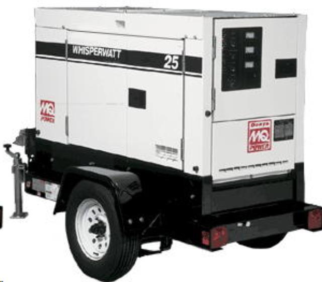 Towable Generator 25 Kva Super Silent Rentals Ukiah Ca