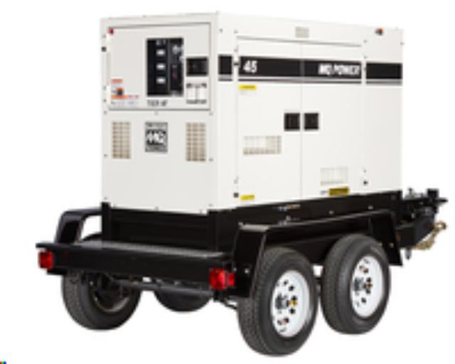 Where to find Towable Generator, 45 kva, Super Silent in Ukiah